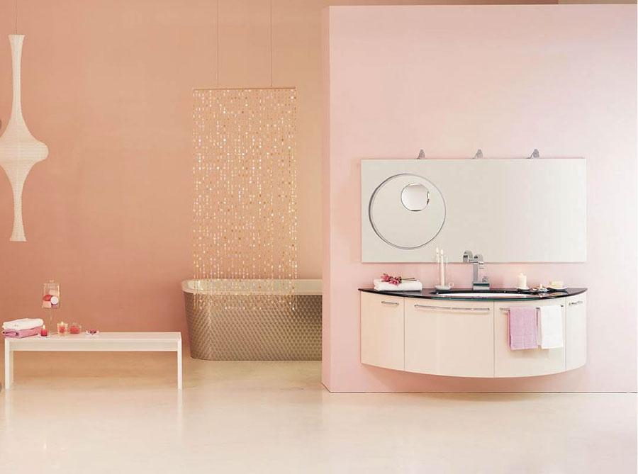 Arredi per bagno rosa 10