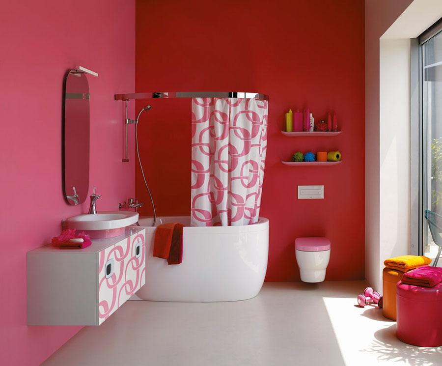 Arredi per bagno rosa 11