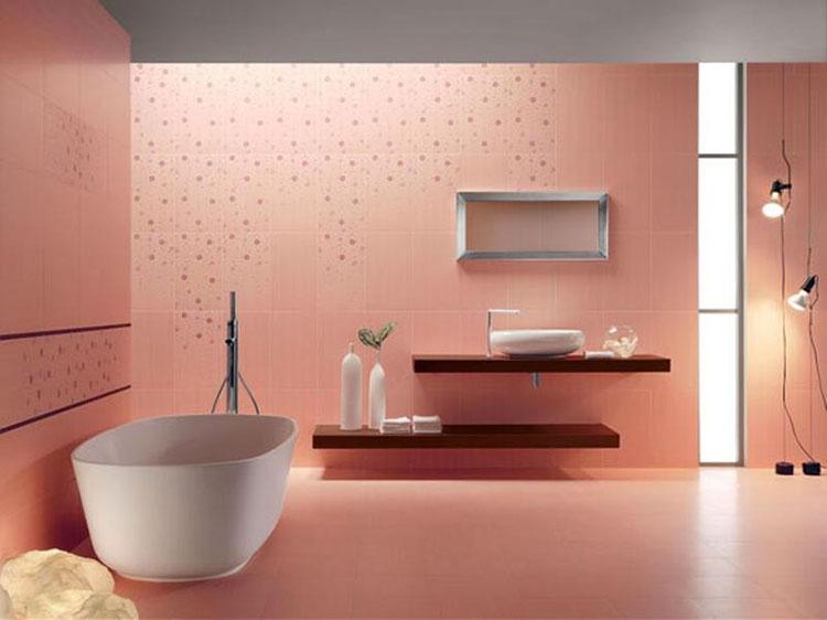 Piastrelle per bagno rosa 02