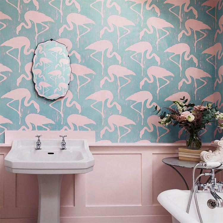 Piastrelle per bagno rosa 10