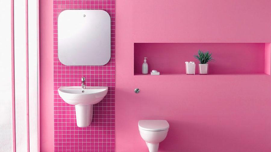 Rivestimenti per bagno rosa 01