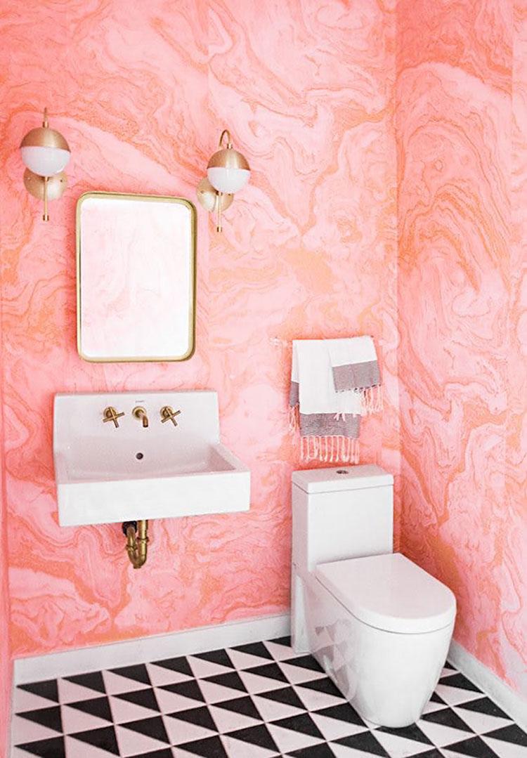 Rivestimenti per bagno rosa 02