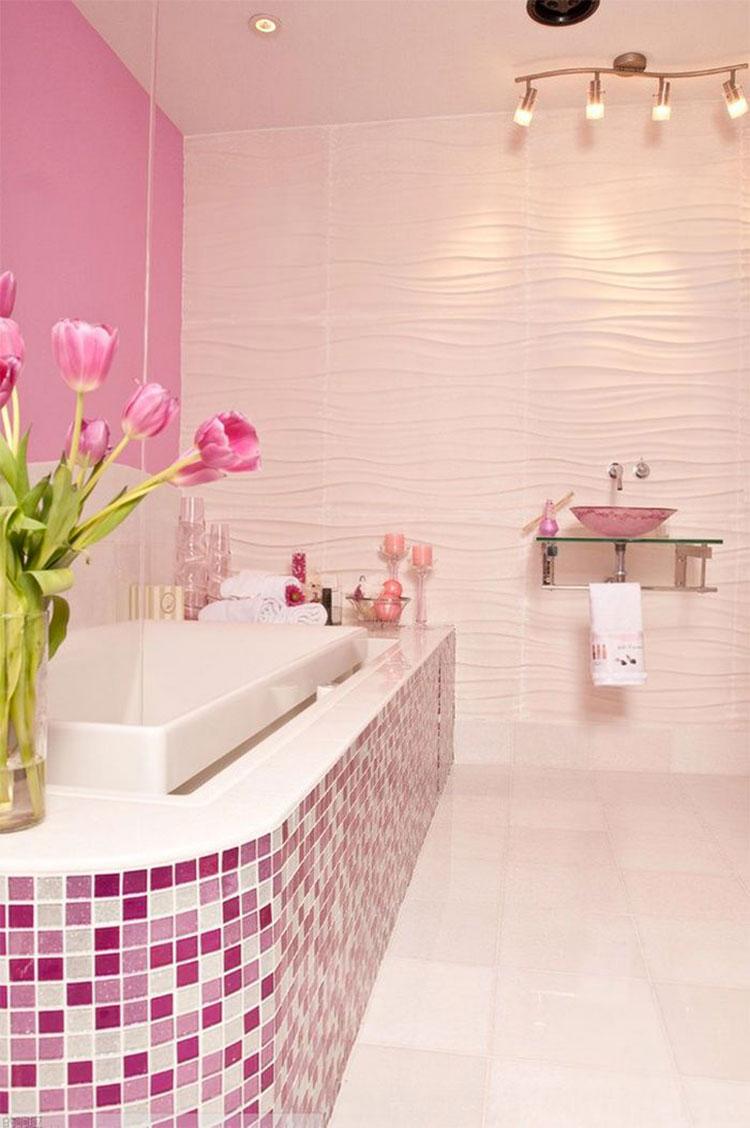Rivestimenti per bagno rosa 04
