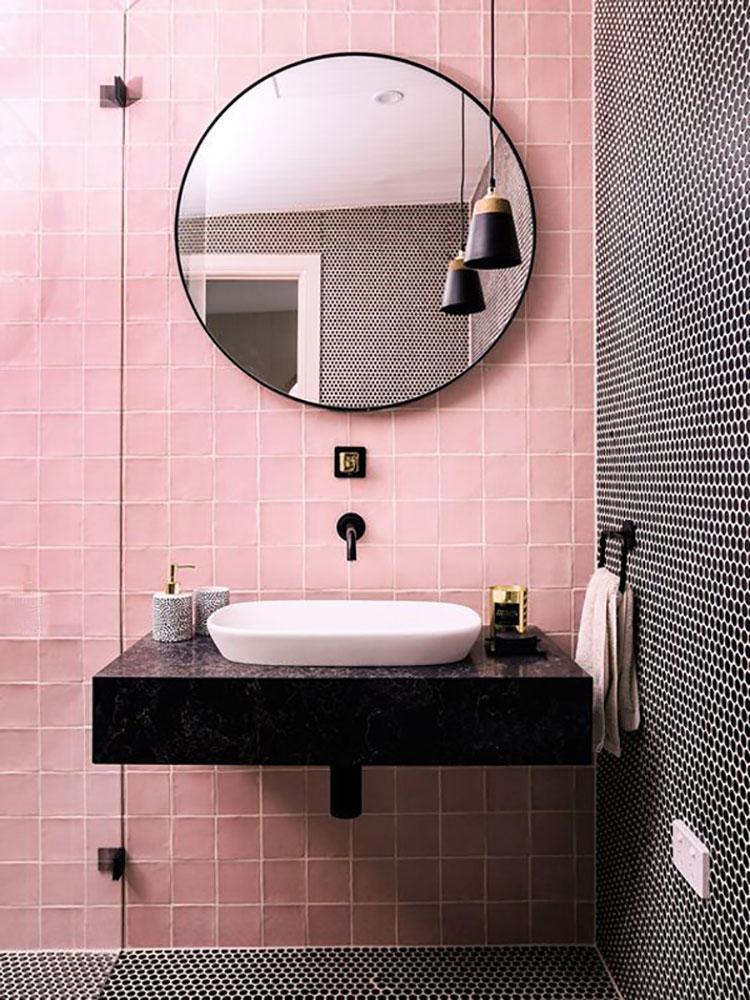 Abbinamenti per bagno rosa 01