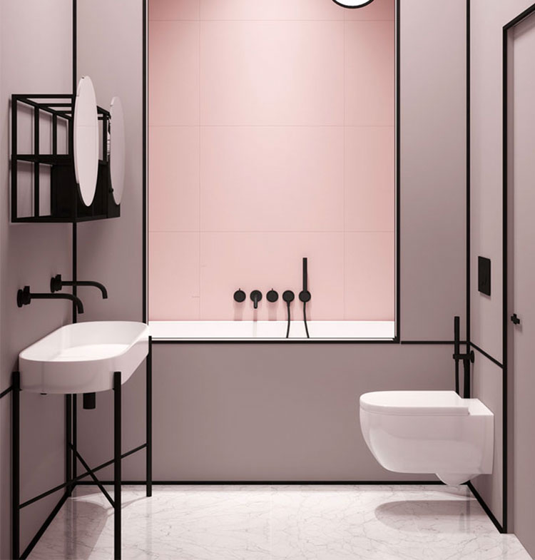 Abbinamenti per bagno rosa 04