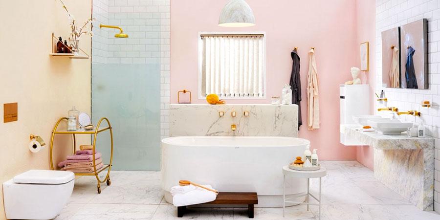 Abbinamenti per bagno rosa 05