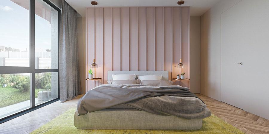 Idee per arredare una camera da letto rosa n.02