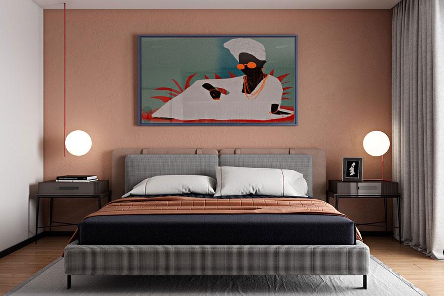 Idee per arredare una camera da letto rosa n.04