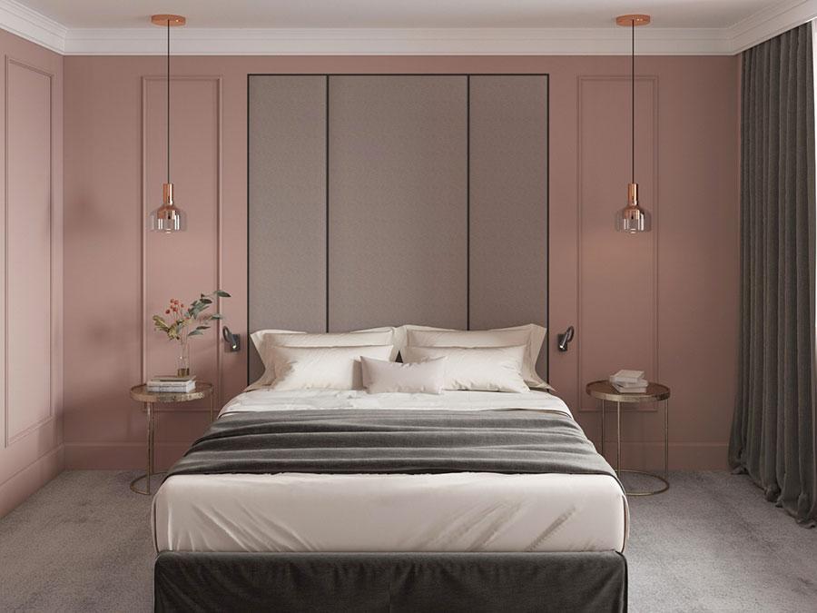 Idee per arredare una camera da letto rosa n.05