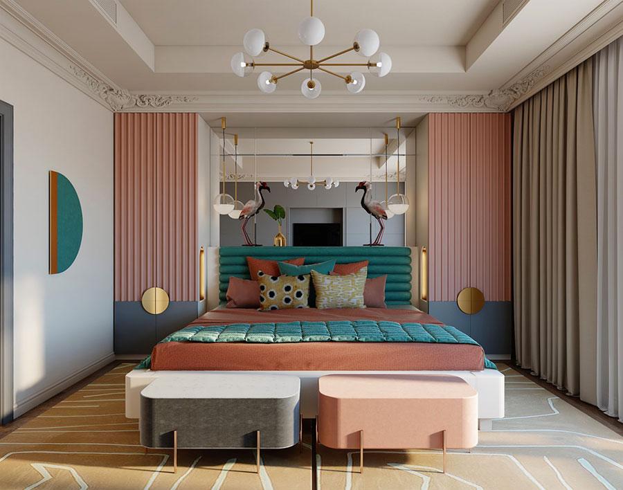 Idee per arredare una camera da letto rosa n.06