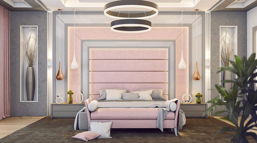 Idee per arredare una camera da letto rosa n.09