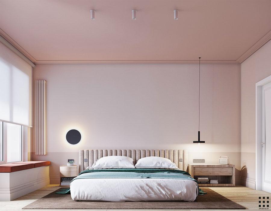 Idee per arredare una camera da letto rosa n.13