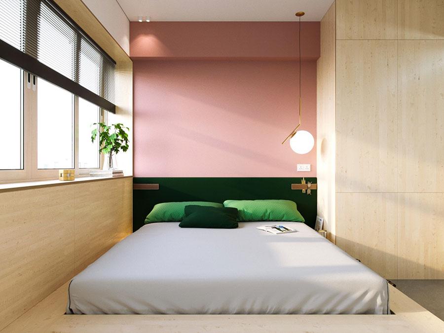 Idee per arredare una camera da letto rosa n.15