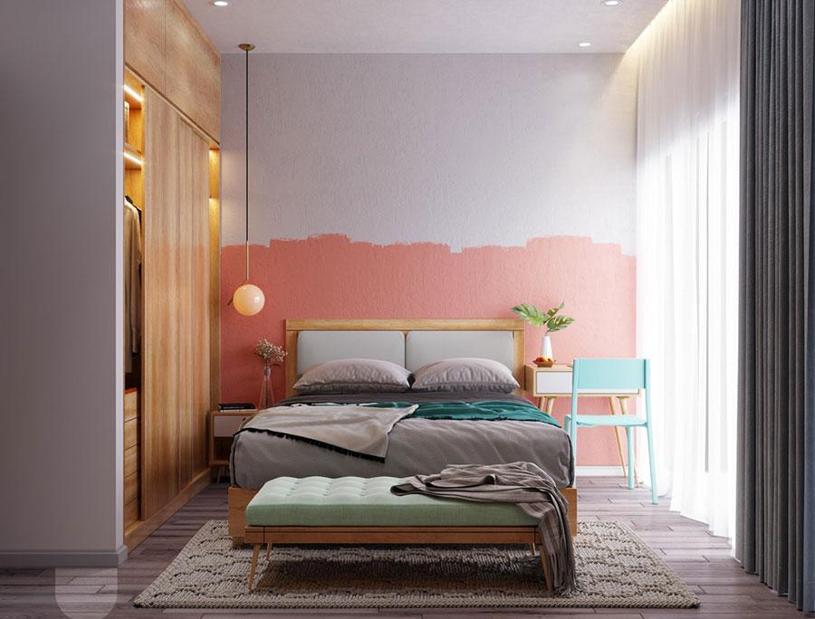 Idee per arredare una camera da letto rosa n.16