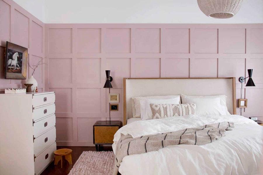 Idee per arredare una camera da letto rosa n.17
