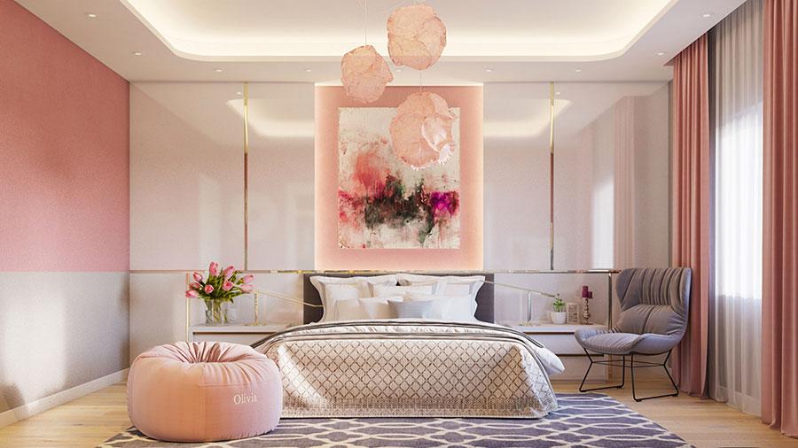 Idee per arredare una camera da letto rosa n.18
