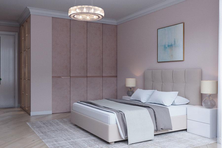 Idee per arredare una camera da letto rosa n.19
