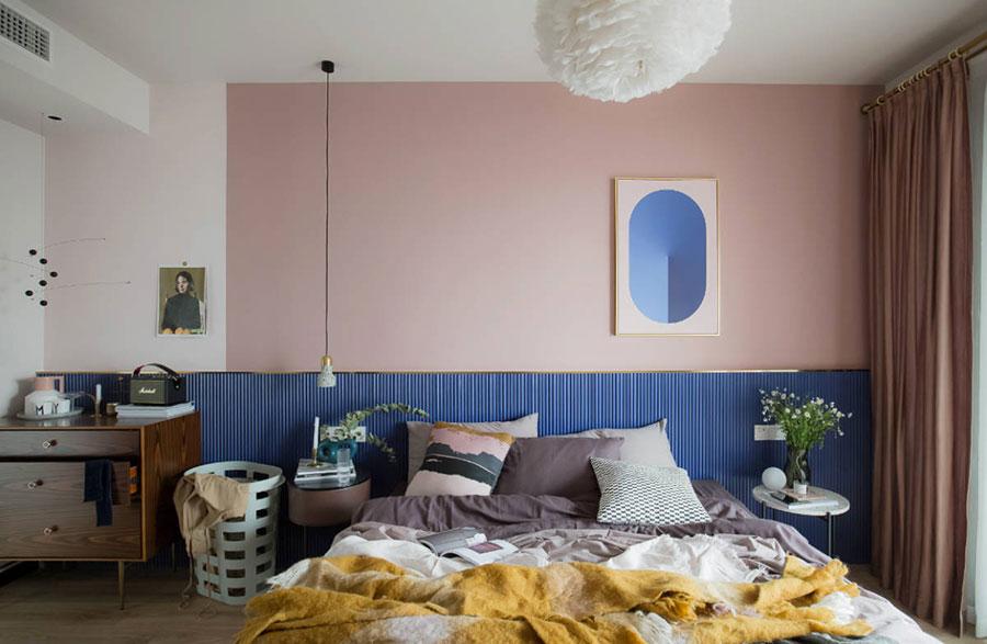 Idee per arredare una camera da letto rosa n.21