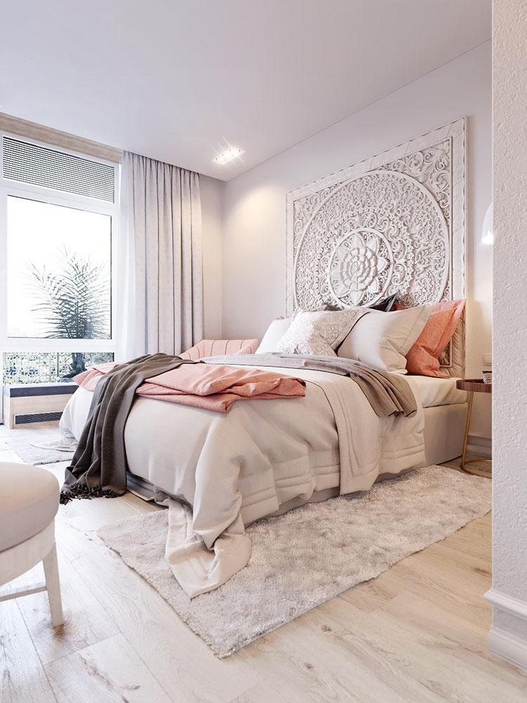 Idee per arredare una camera da letto rosa n.25