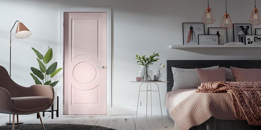 Idee per arredare una camera da letto rosa n.26
