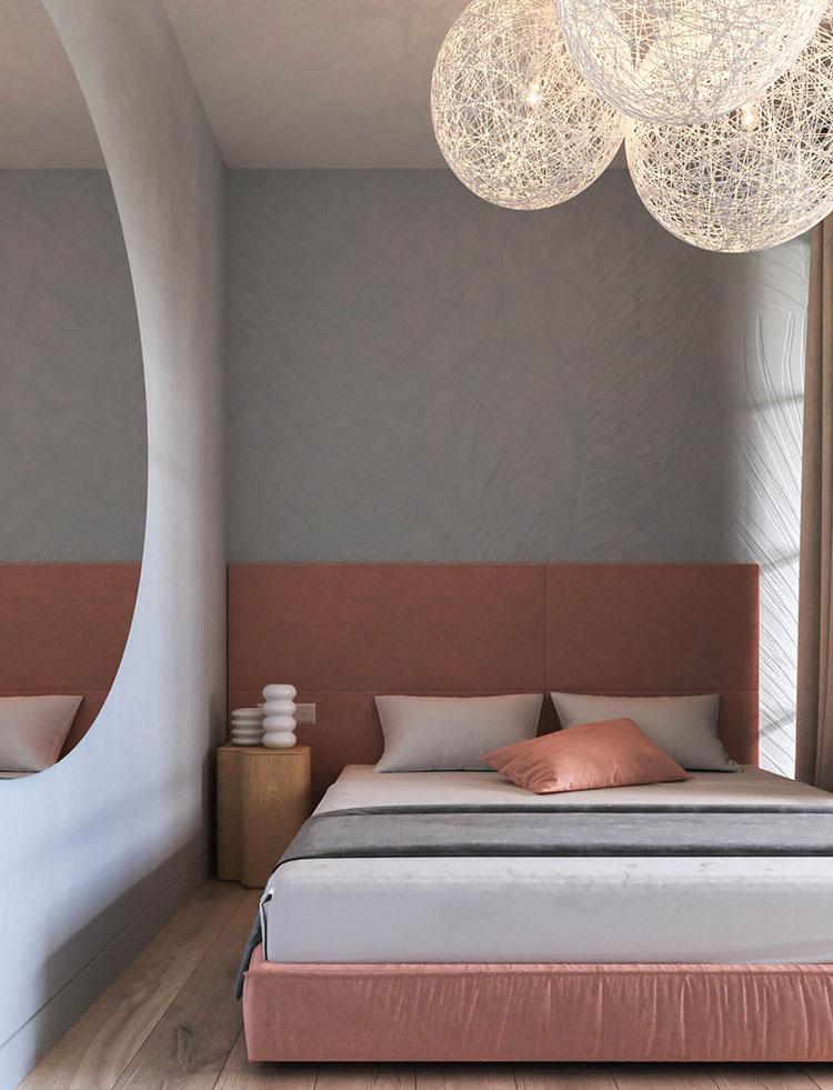 Idee per arredare una camera da letto rosa n.27