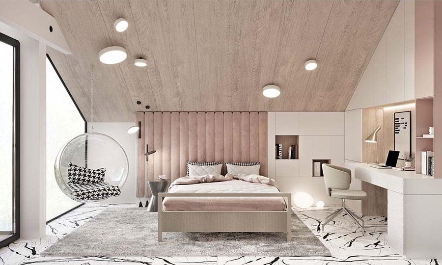 Idee per arredare una camera da letto rosa n.29