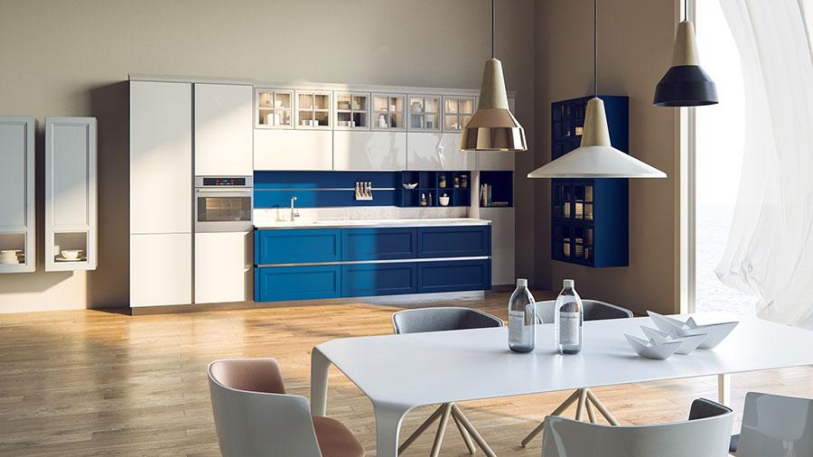 Modello di cucina classica per casa al mare 01