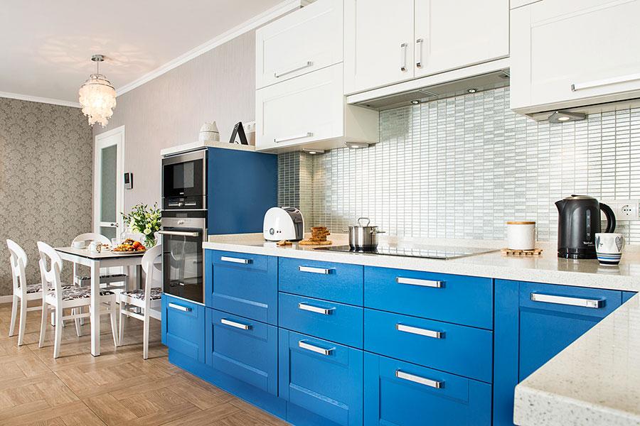 Modello di cucina classica per casa al mare 02