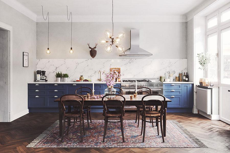 Modello di cucina classica per casa al mare 03