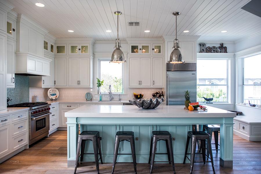 Modello di cucina classica per casa al mare 05