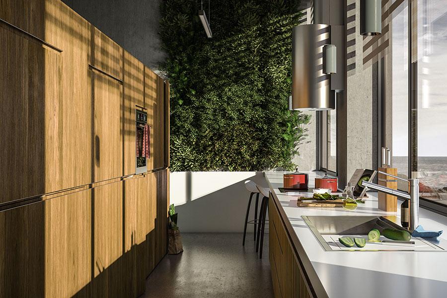 Modello di cucina moderna per casa al mare 03