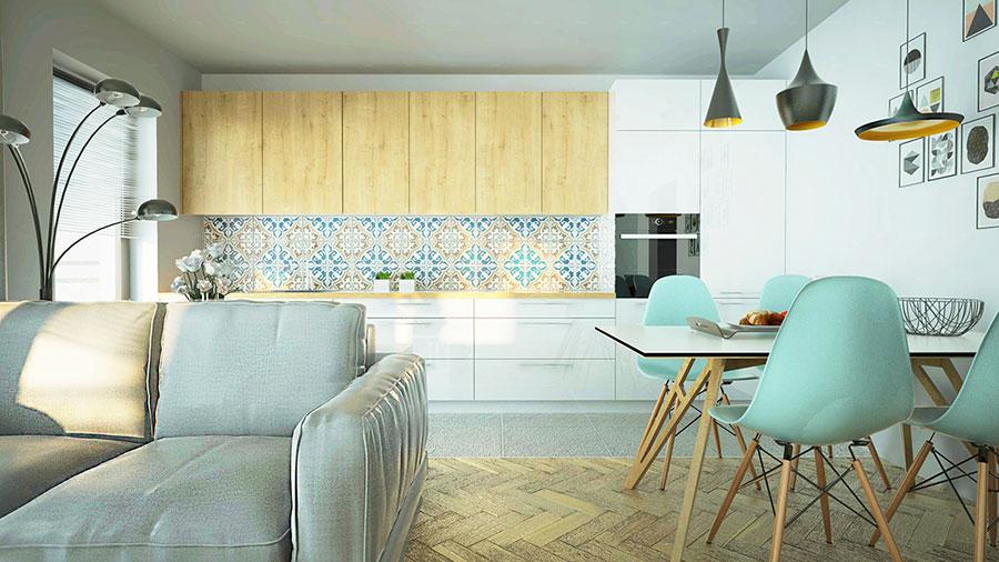 Modello di cucina moderna per casa al mare 04