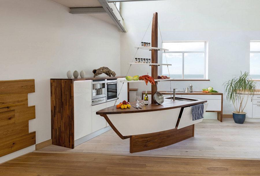 Modello di cucina moderna per casa al mare 05
