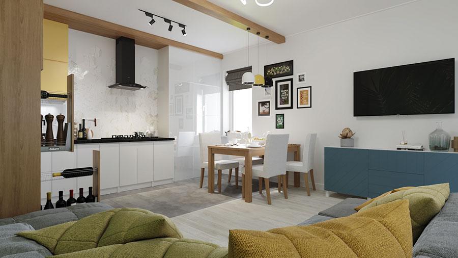 Modello di cucina moderna per casa al mare 06