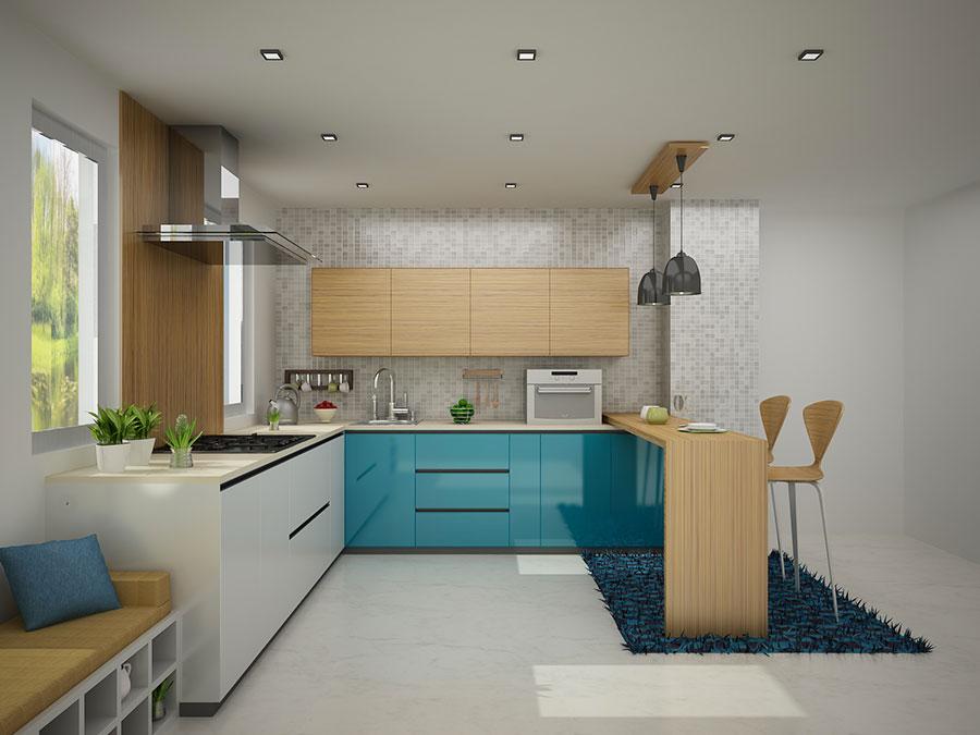 Modello di cucina moderna per casa al mare 10