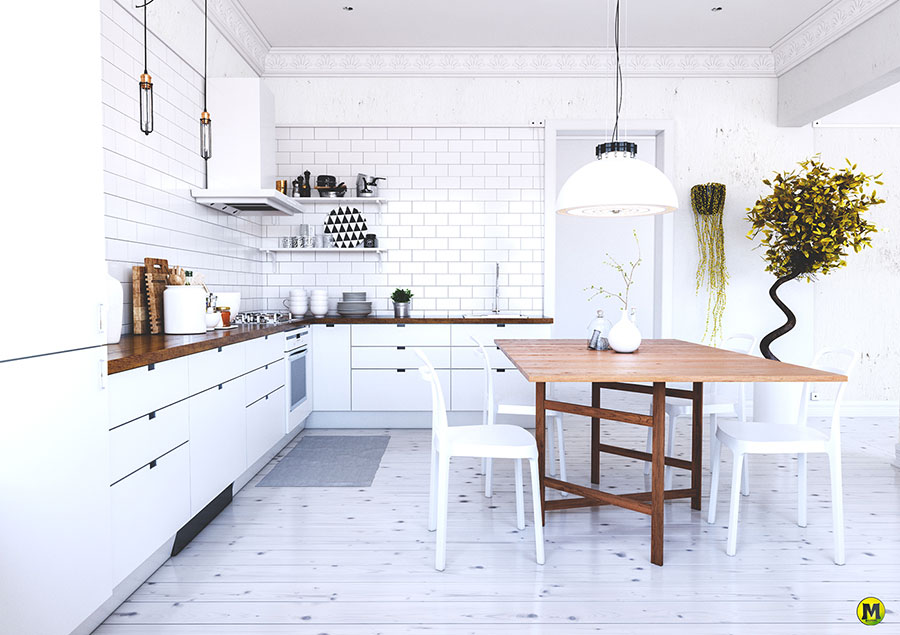 Modello di cucina rustica per casa al mare 02