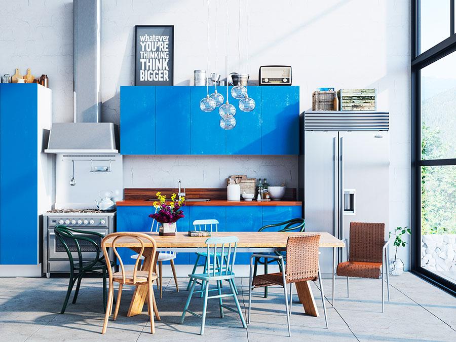 Modello di cucina rustica per casa al mare 04