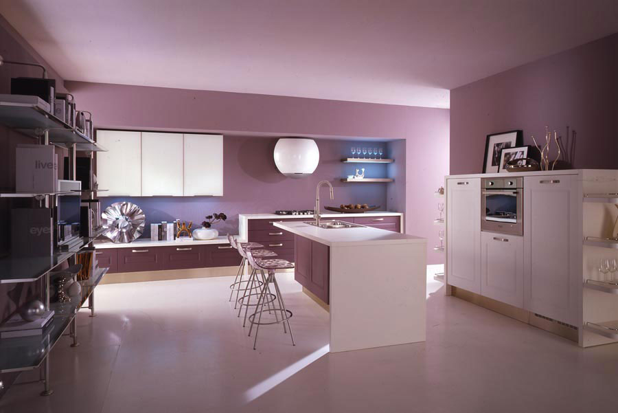 Idee cucina color malva