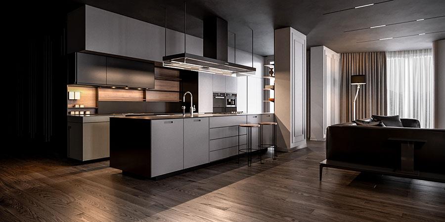 Idee per arredare una cucina a vista 03