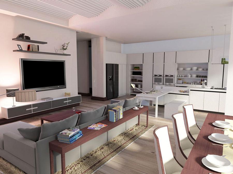 Idee per arredare una cucina a vista 05