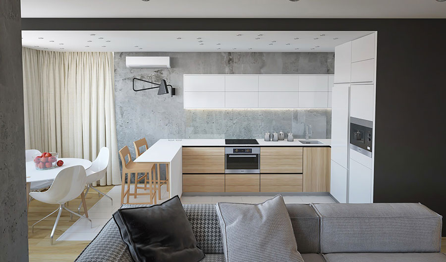 Idee per arredare una cucina a vista 14