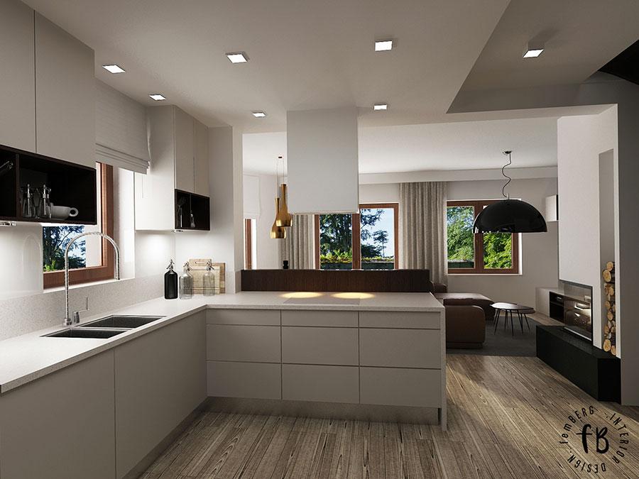 Idee per arredare una cucina a vista 16