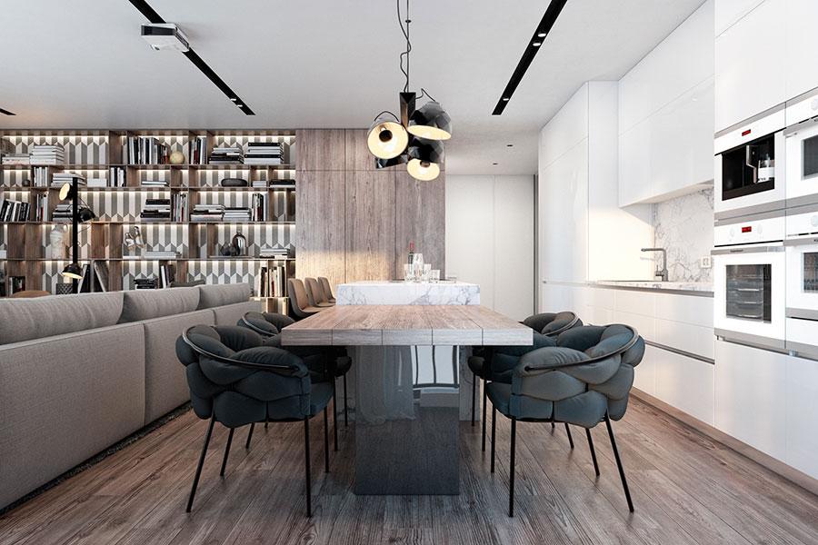 Idee per arredare una cucina a vista 27