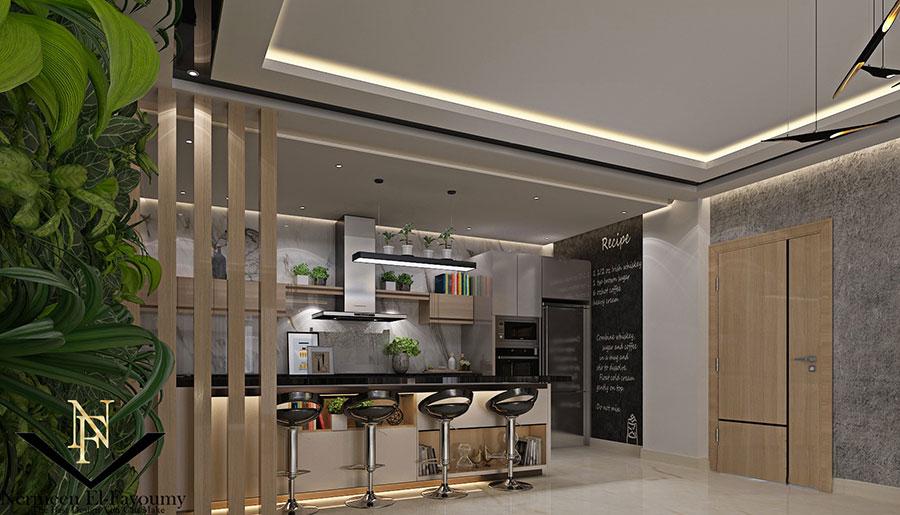 Idee per arredare una cucina a vista 34