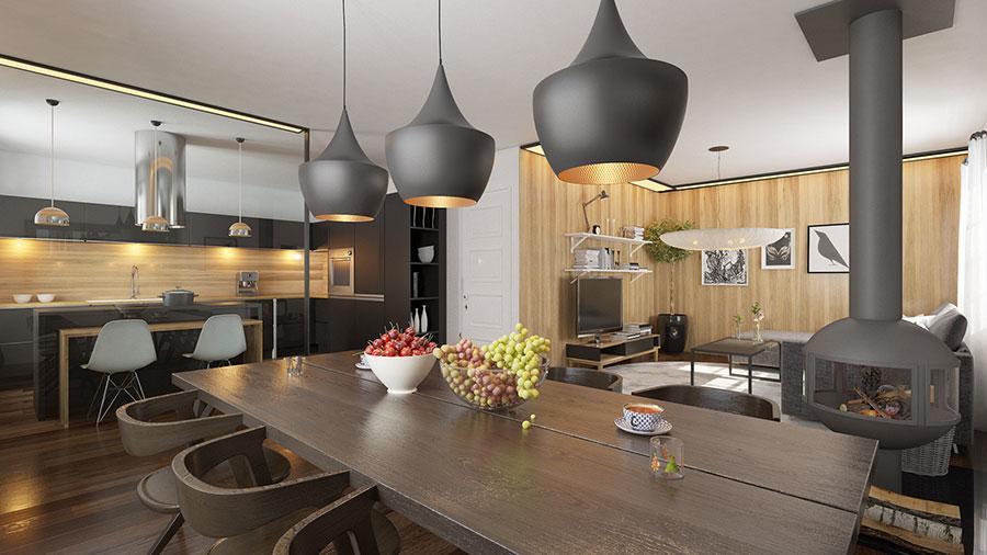 Idee per arredare una cucina a vista 49