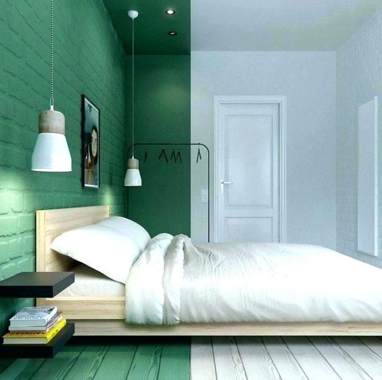 Colori bianco e verde per la camera da letto 4