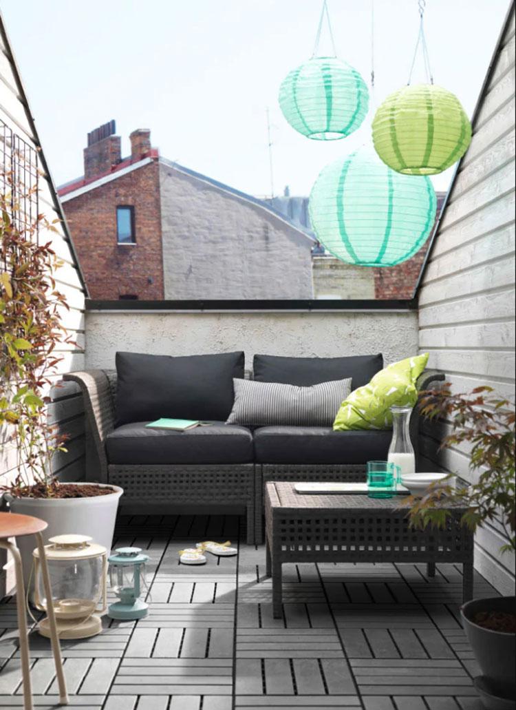 Idee per arredare un balcone Ikea n.02