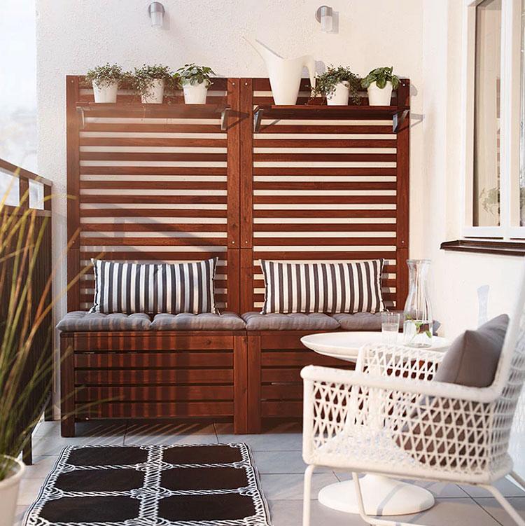 Idee per arredare un balcone Ikea n.04