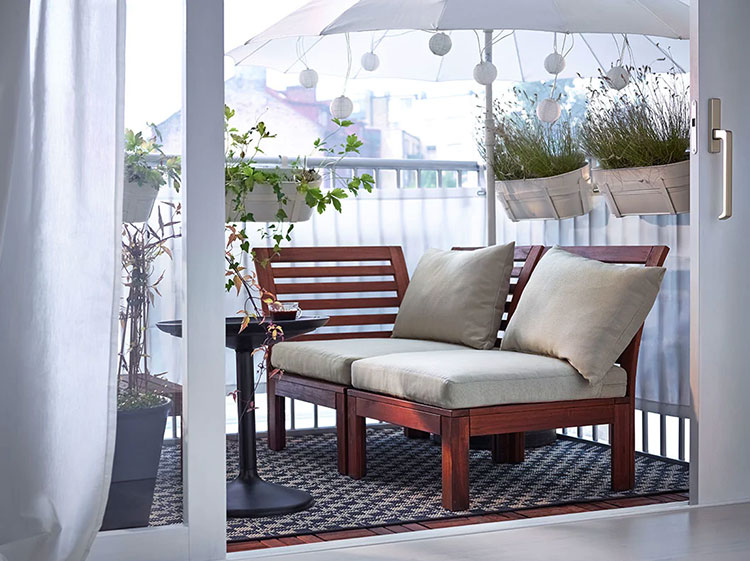 Idee per arredare un balcone Ikea n.05
