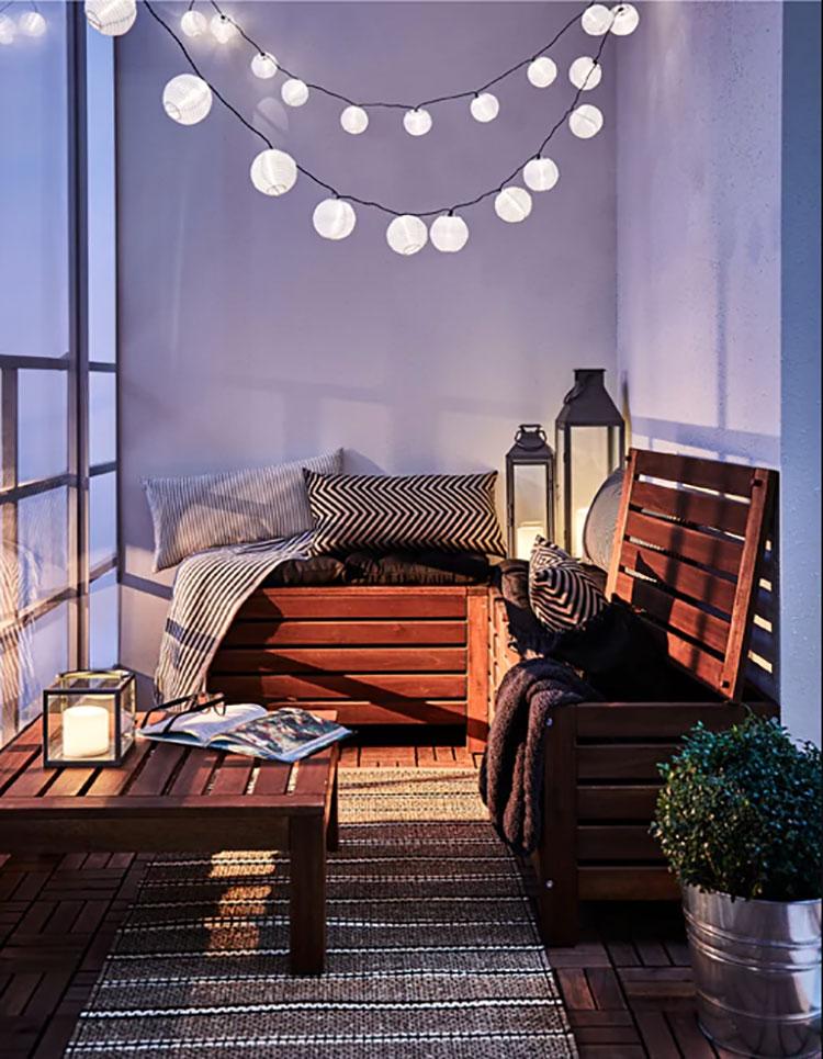 Idee per arredare un balcone Ikea n.11